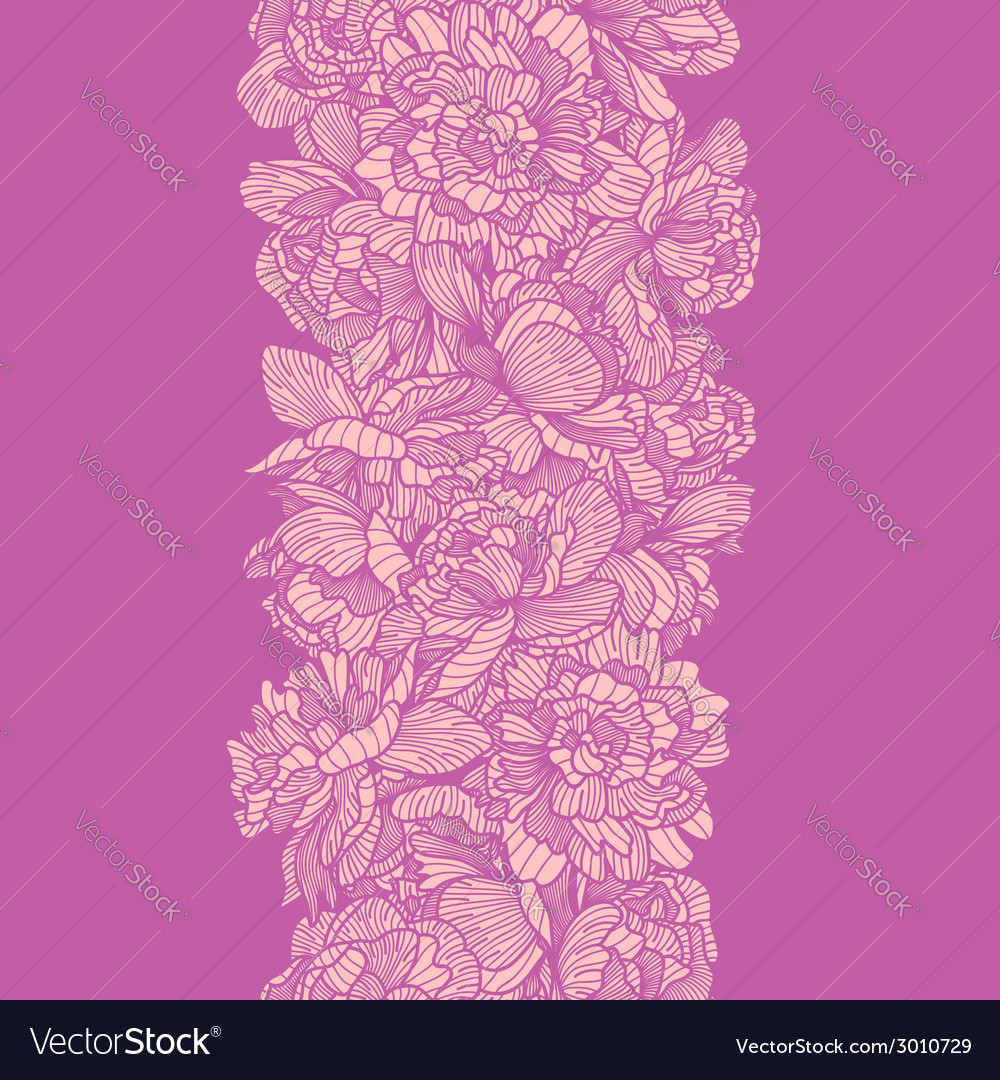 Peony border vector | Price: 1 Credit (USD $1)