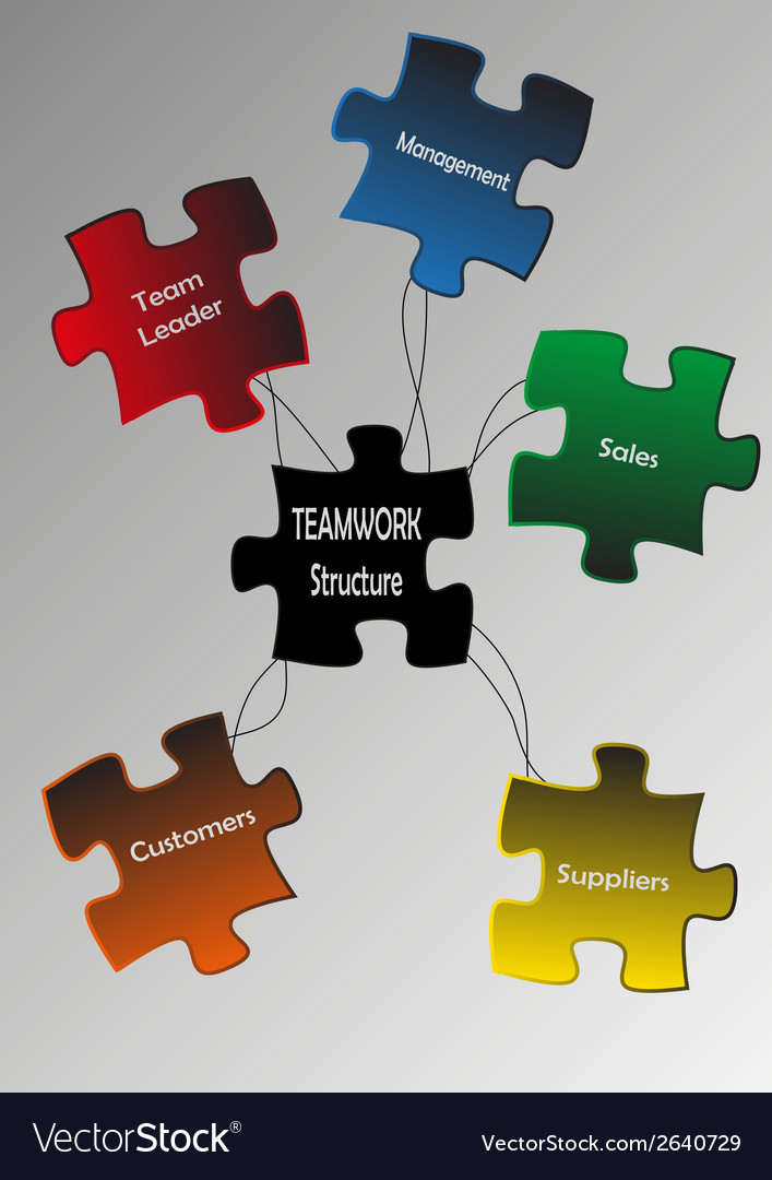 Puzzle teamwork vector | Price: 1 Credit (USD $1)