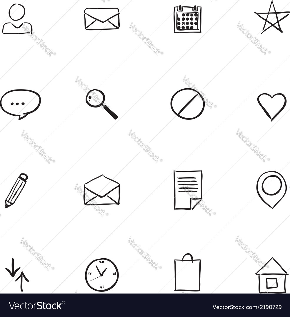 Set of email icon web design element vector | Price: 1 Credit (USD $1)