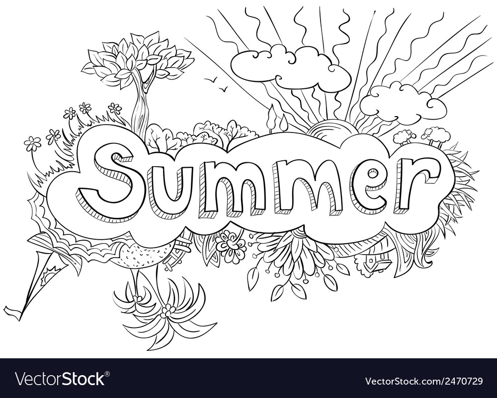 Summer doodle vector | Price: 1 Credit (USD $1)