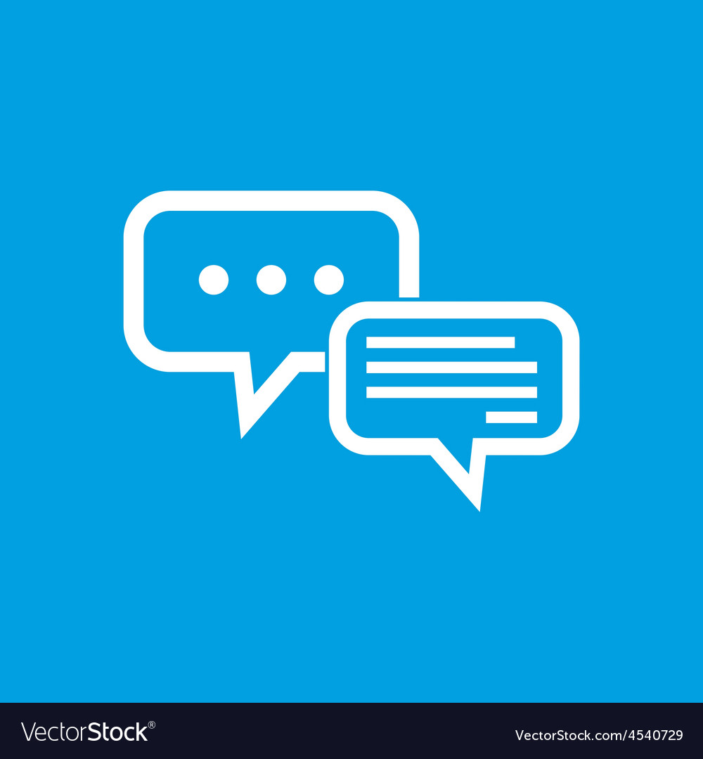 Typing text in dialogue symbol vector | Price: 1 Credit (USD $1)