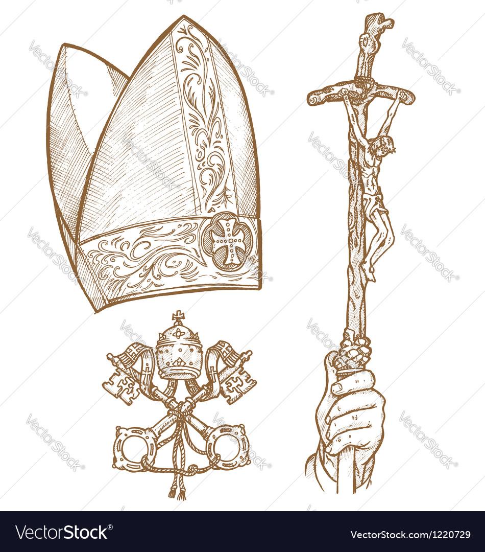 Vatican symbols vector | Price: 1 Credit (USD $1)