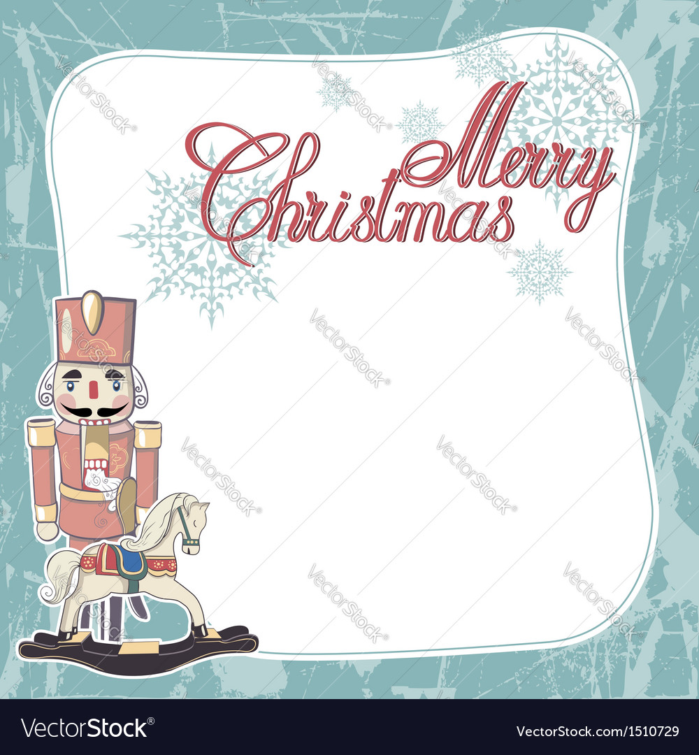 Vintage christmas card merry christmas lettering vector | Price: 1 Credit (USD $1)