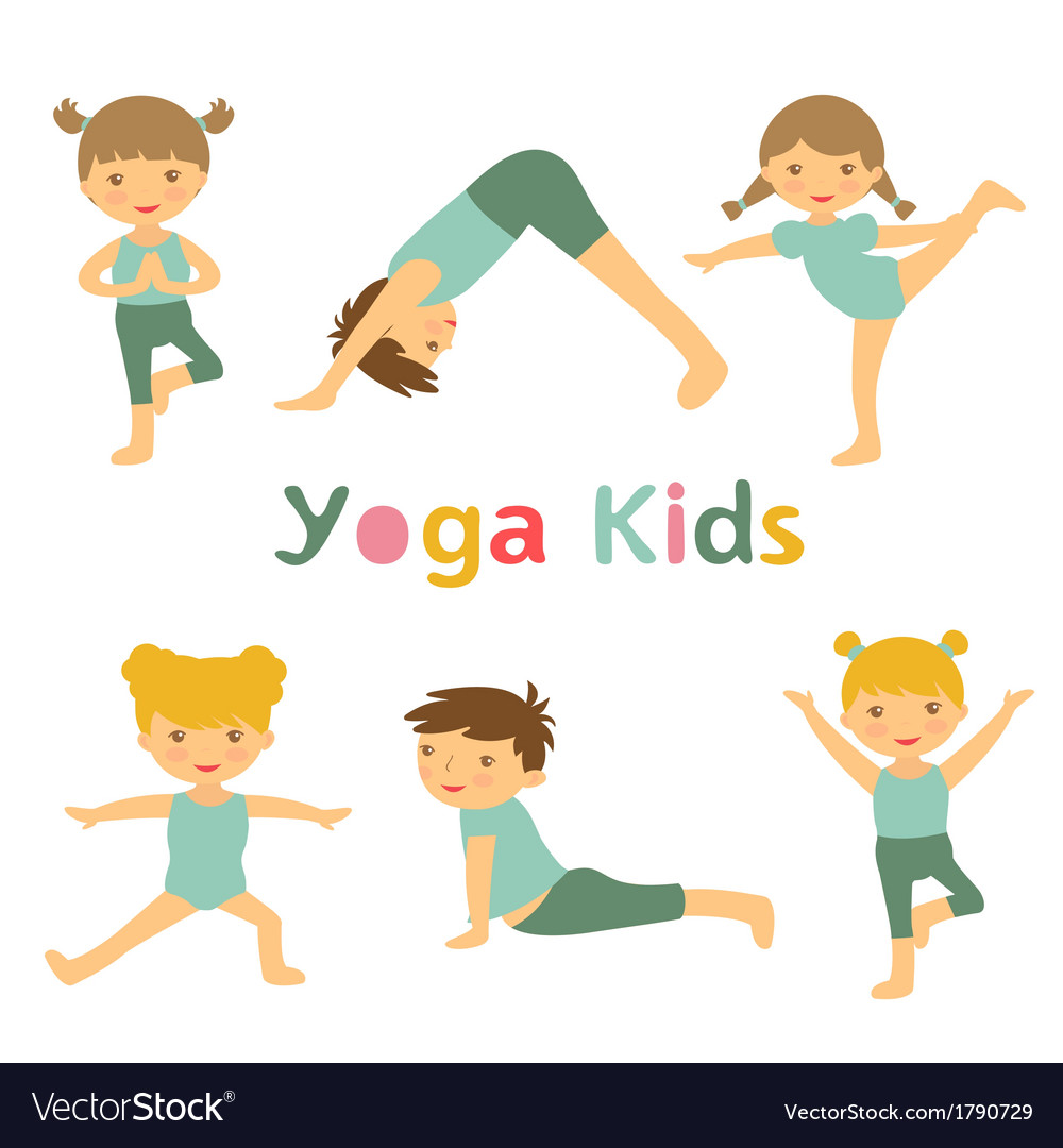 Yoga kids vector | Price: 1 Credit (USD $1)
