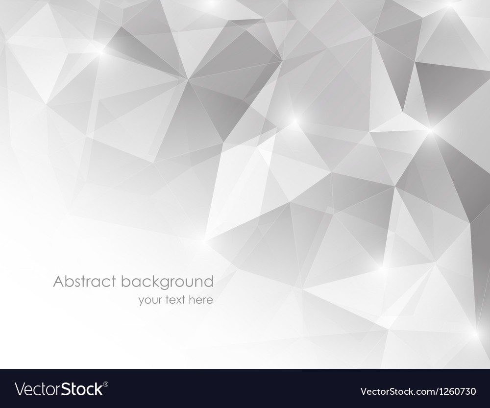 Abstract background with gray triangles vector | Price: 1 Credit (USD $1)