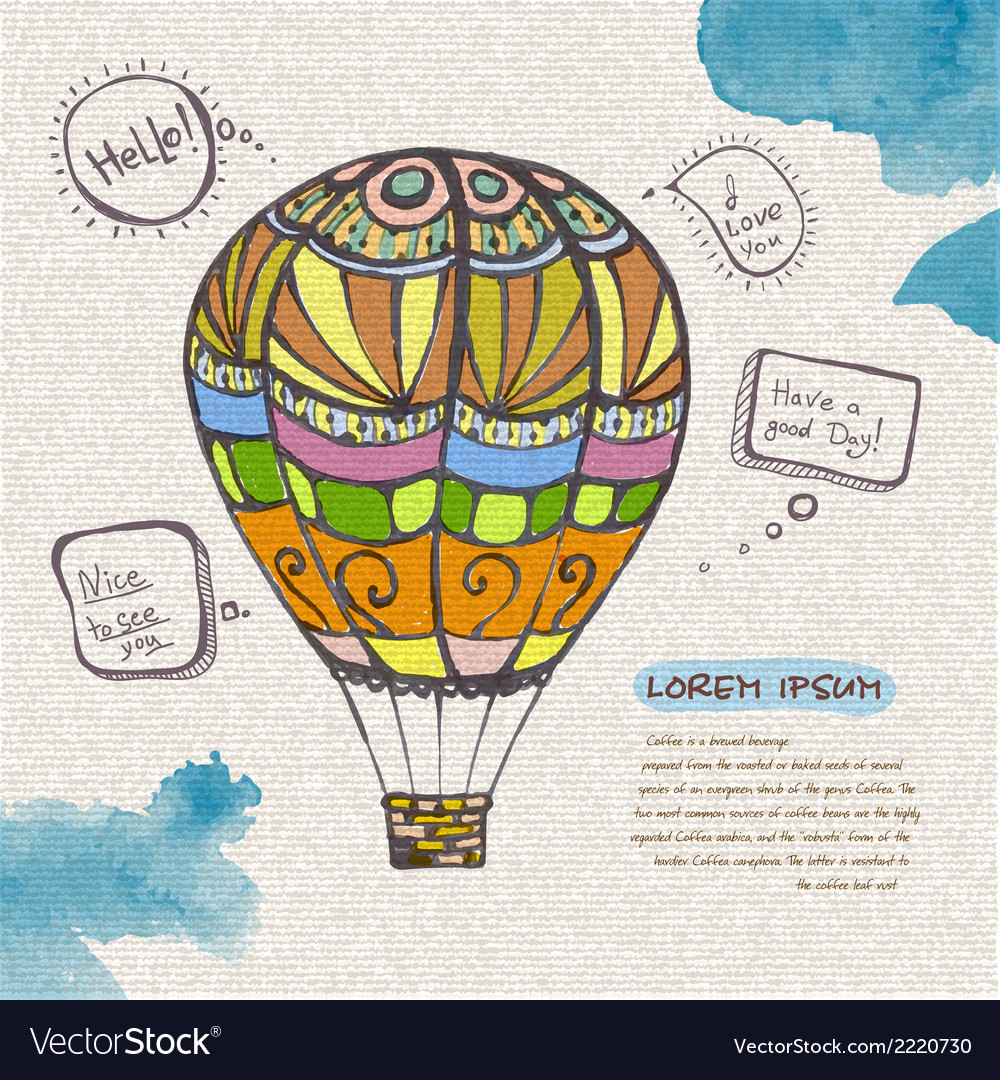 Decorative sketch of balloon vector | Price: 1 Credit (USD $1)