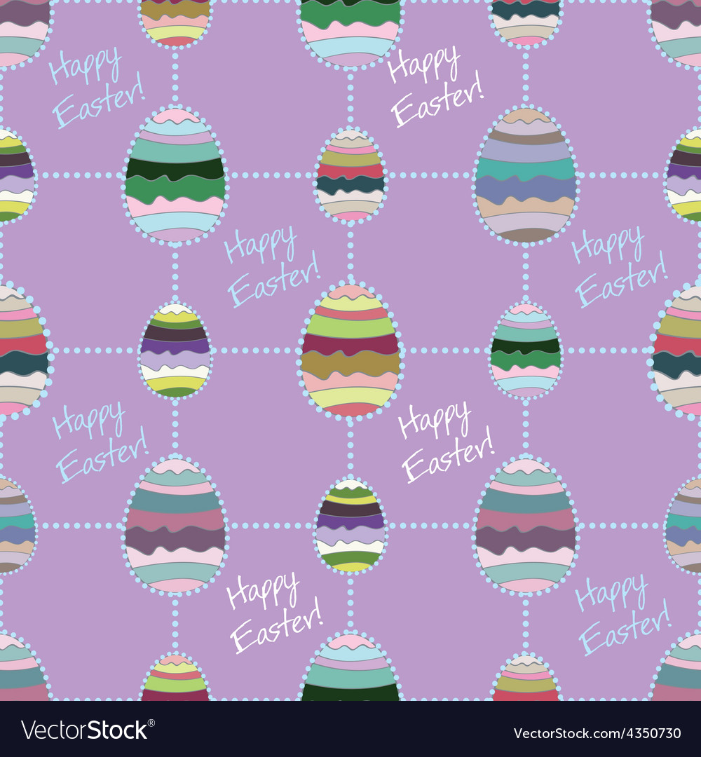 Happy easter cute holiday background seamless vector | Price: 1 Credit (USD $1)