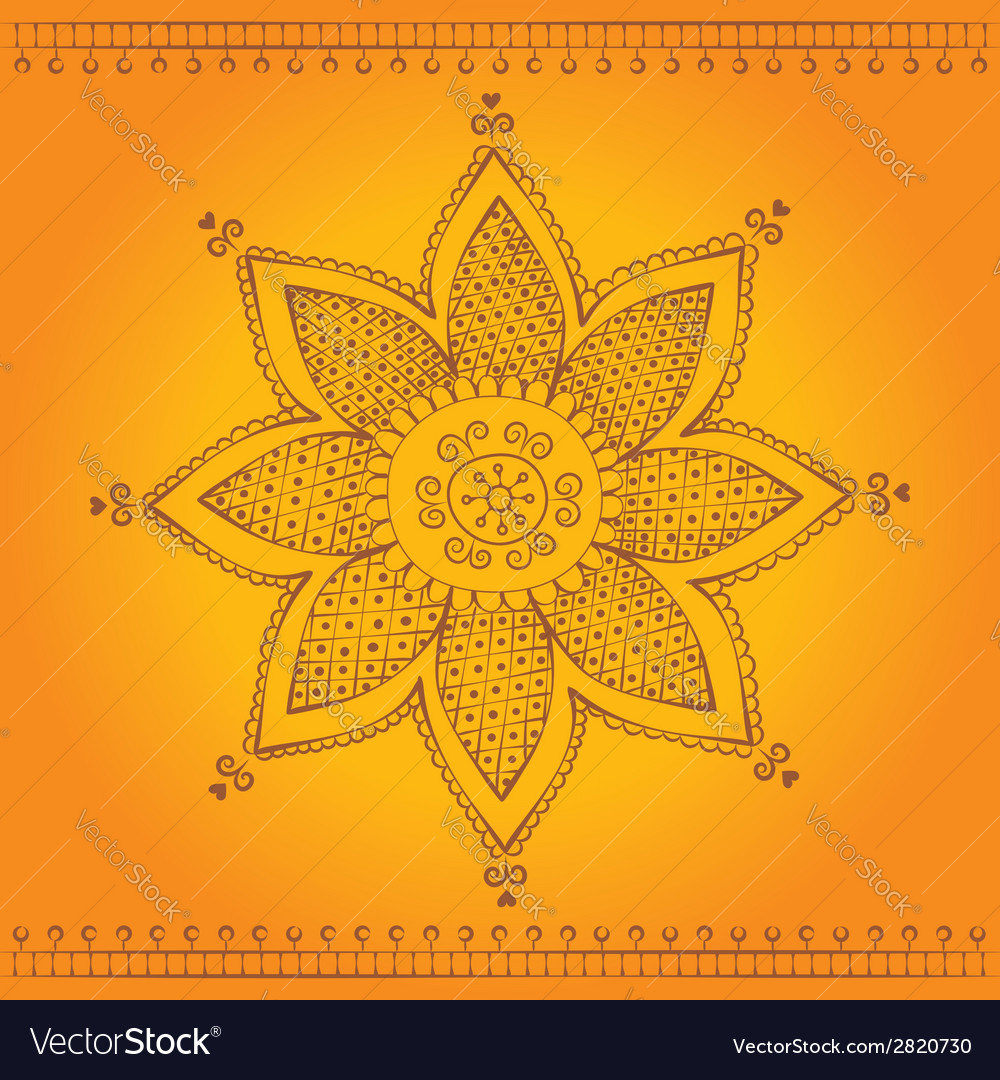 Indian flower vector | Price: 1 Credit (USD $1)