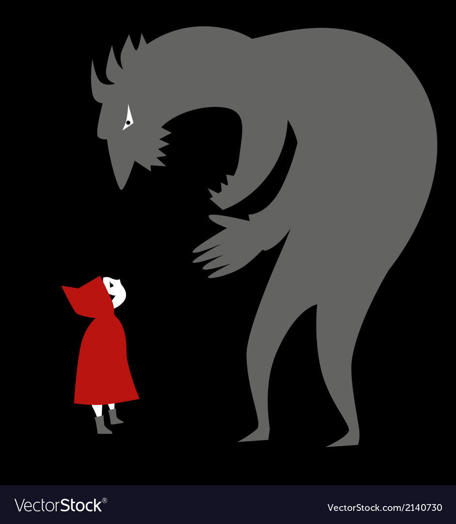 Little red riding hood and a predator vector | Price: 1 Credit (USD $1)