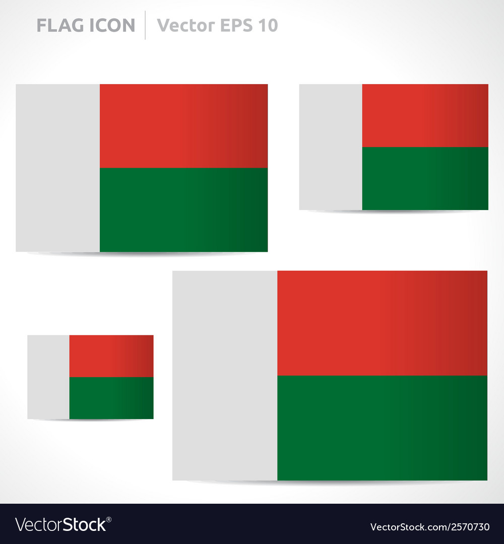Madagascar flag template vector | Price: 1 Credit (USD $1)