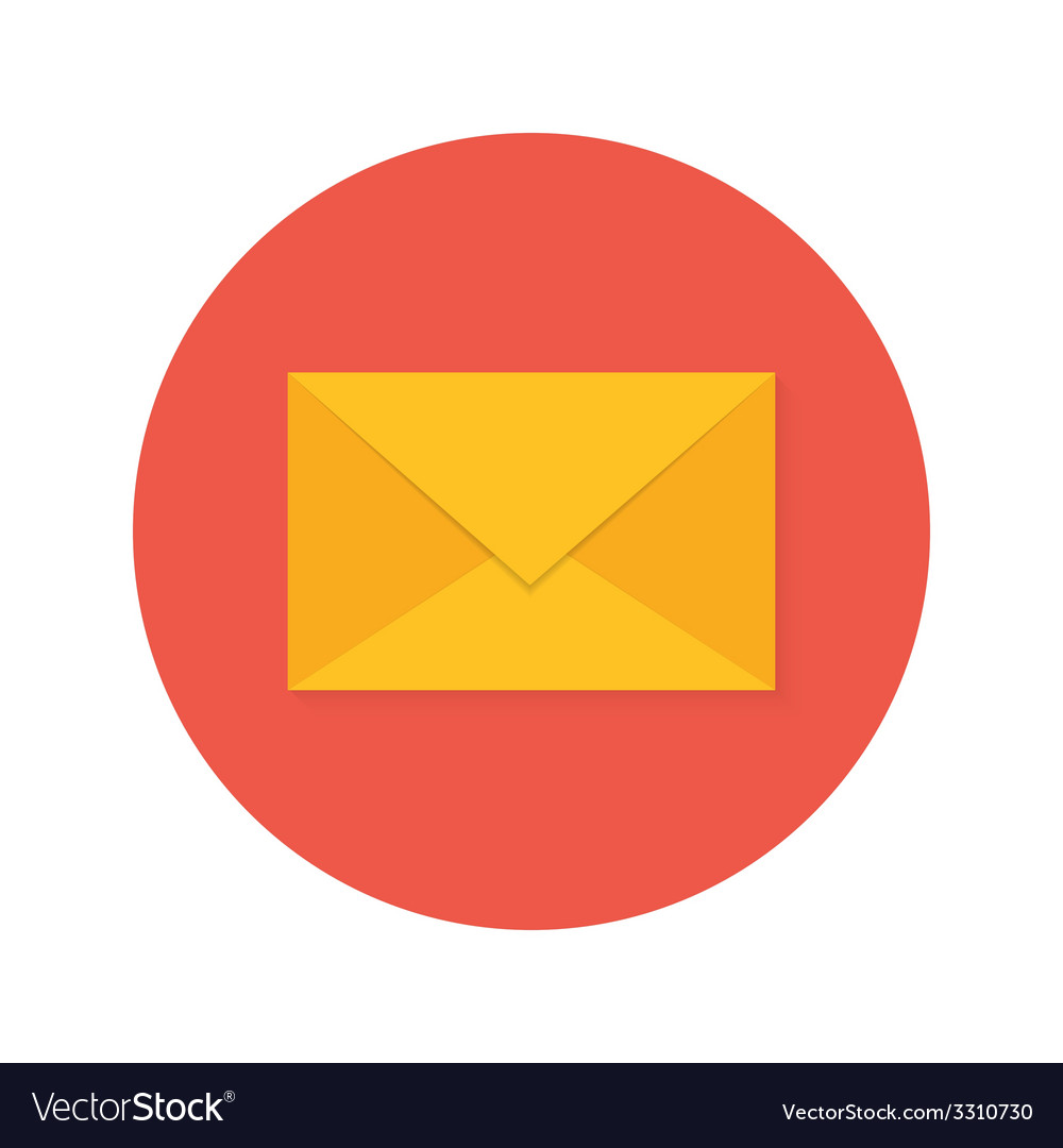 Mail envelope flat circle icon vector | Price: 1 Credit (USD $1)