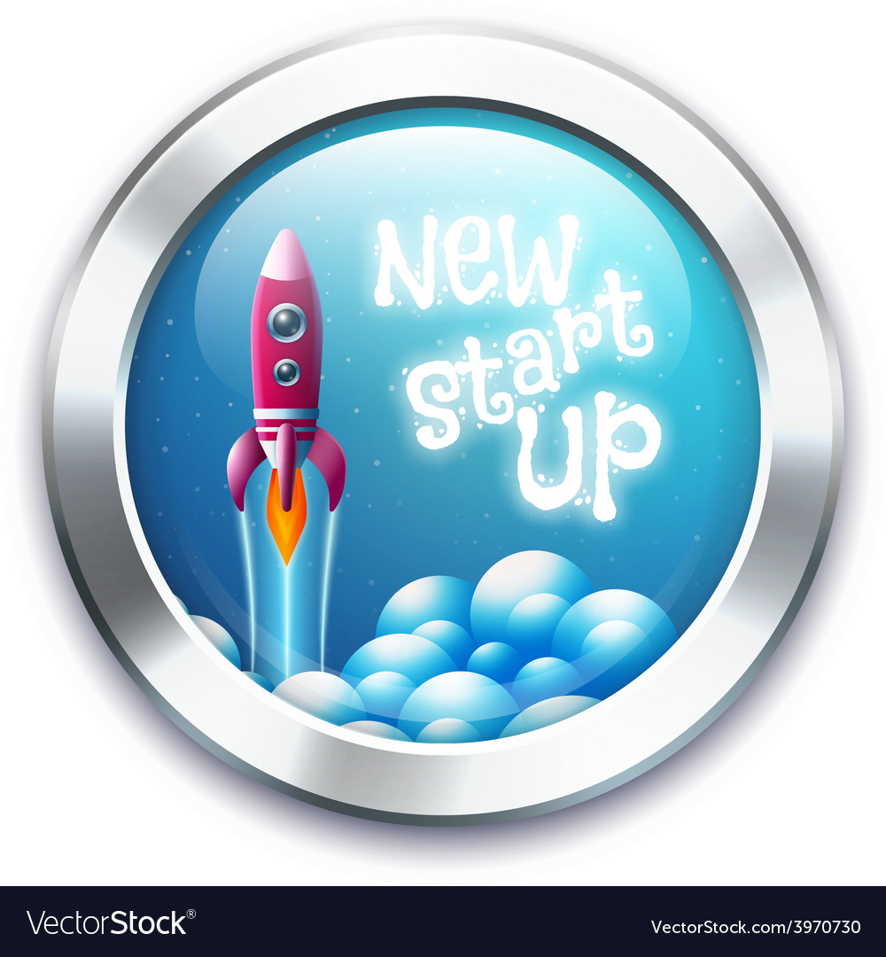 New project start up button vector | Price: 1 Credit (USD $1)