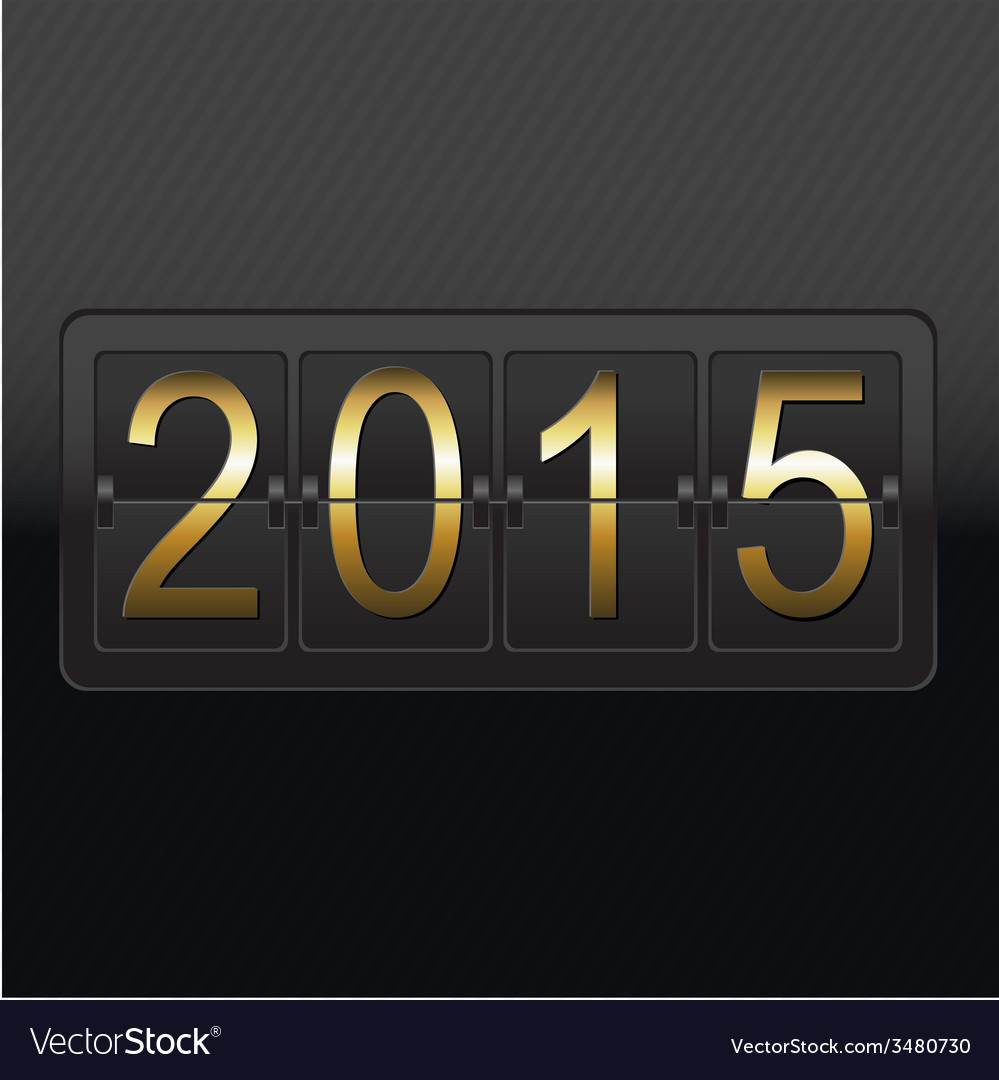New year black counter card vector | Price: 1 Credit (USD $1)