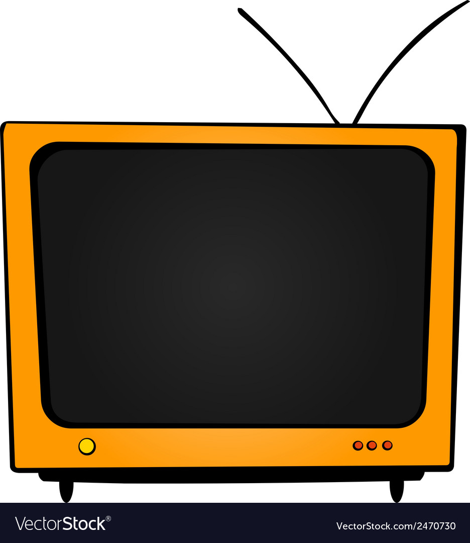 Orange tv vector | Price: 1 Credit (USD $1)