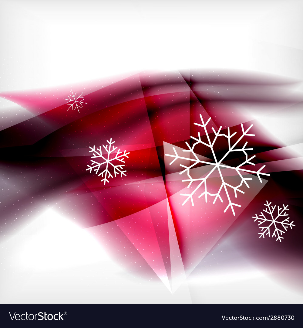Pueple christmas blurred waves and snowflakes vector | Price: 1 Credit (USD $1)