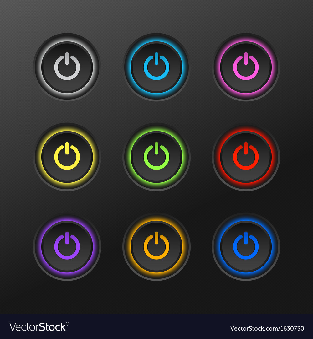 Start power button in dark background vector | Price: 1 Credit (USD $1)