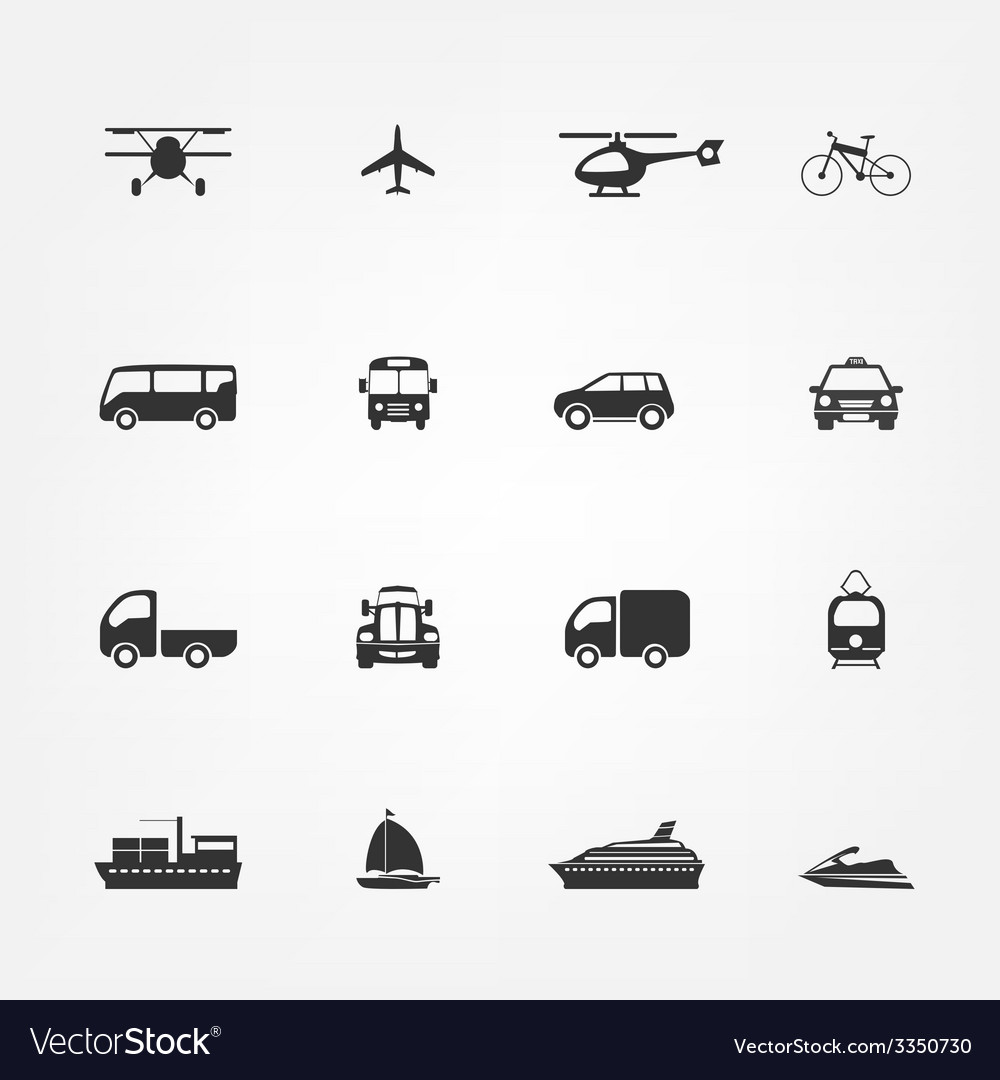 Taxi icons set flat style vector | Price: 1 Credit (USD $1)