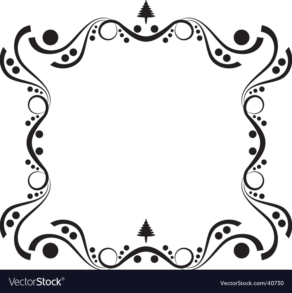Winter elegance frame vector | Price: 1 Credit (USD $1)