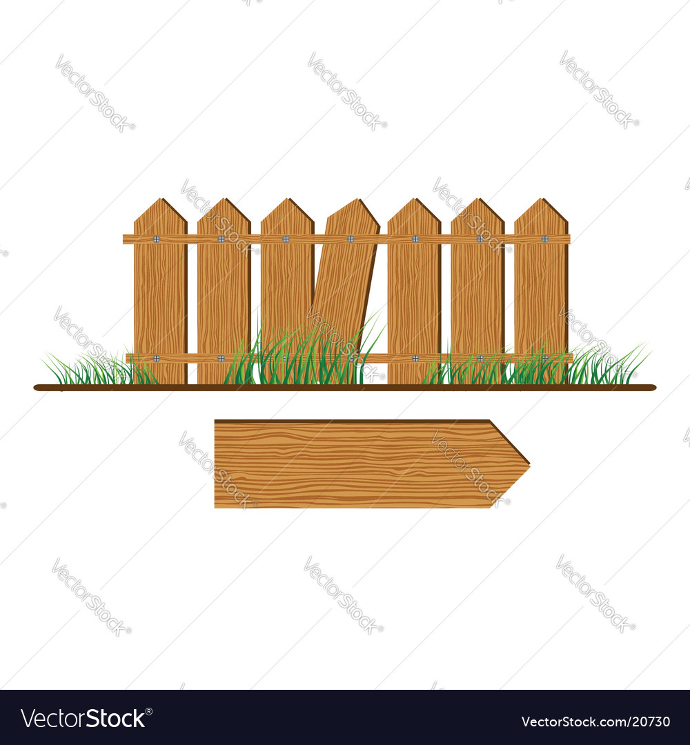 Wooden fence vector   Price: 1 Credit (USD $1)