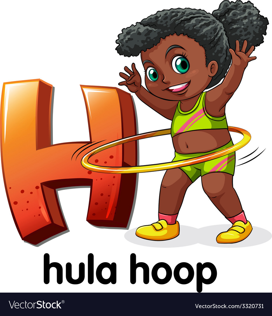A letter h for hula hoop vector | Price: 1 Credit (USD $1)