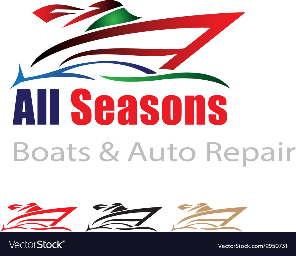 Boat and car repair logo vector | Price: 1 Credit (USD $1)