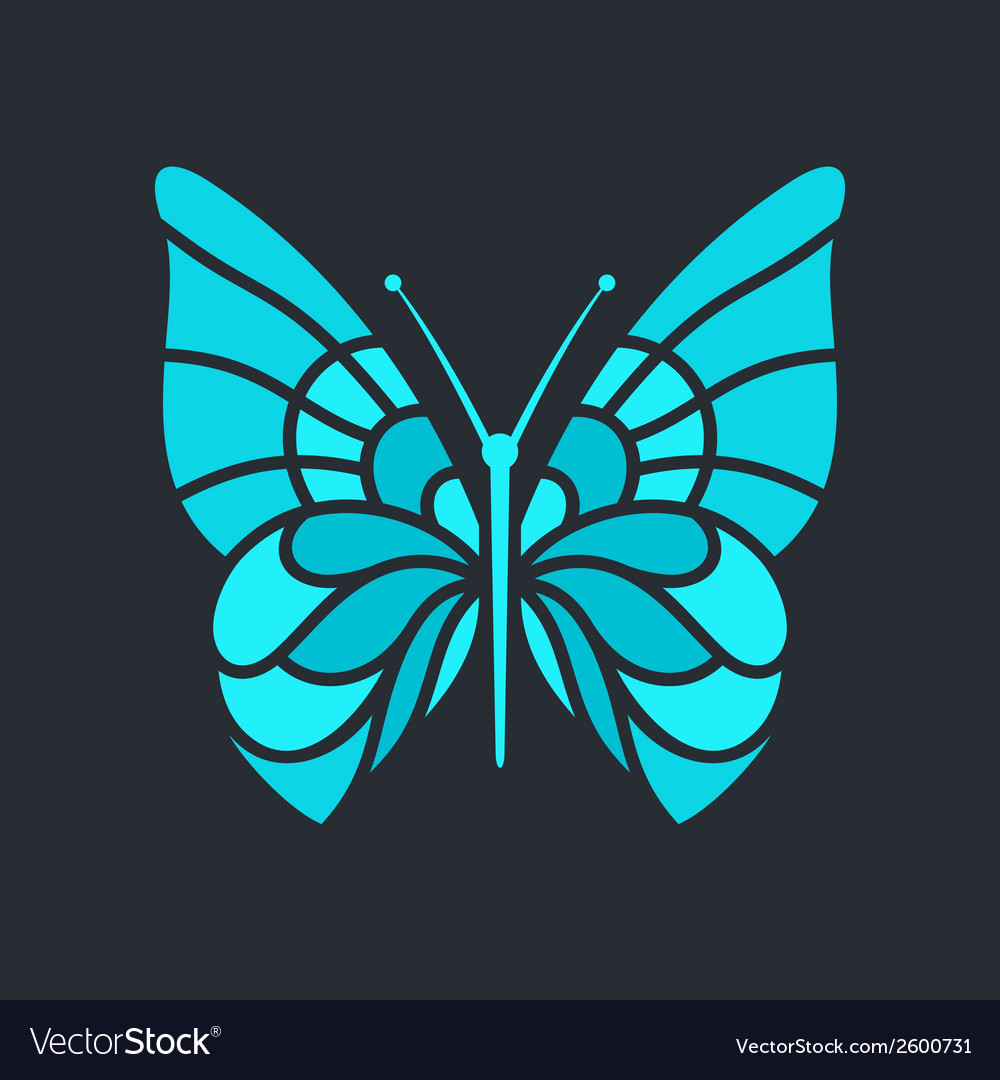 Butterfly sign vector | Price: 1 Credit (USD $1)