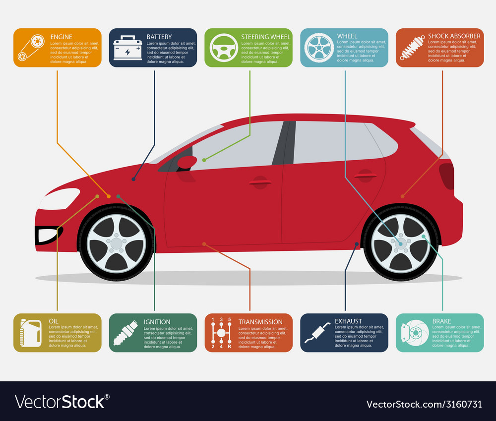 Car infographic vector | Price: 1 Credit (USD $1)