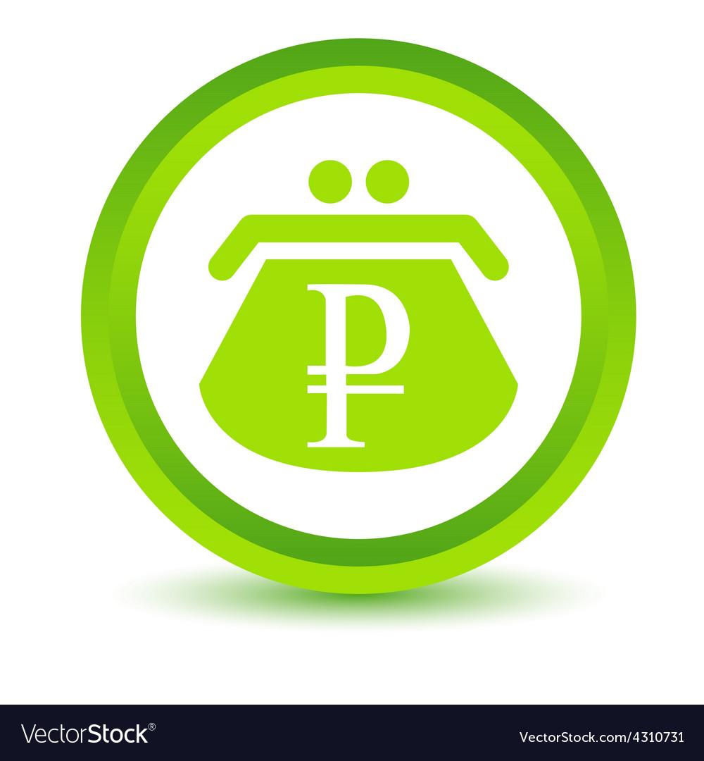 Green rouble purse icon vector   Price: 1 Credit (USD $1)