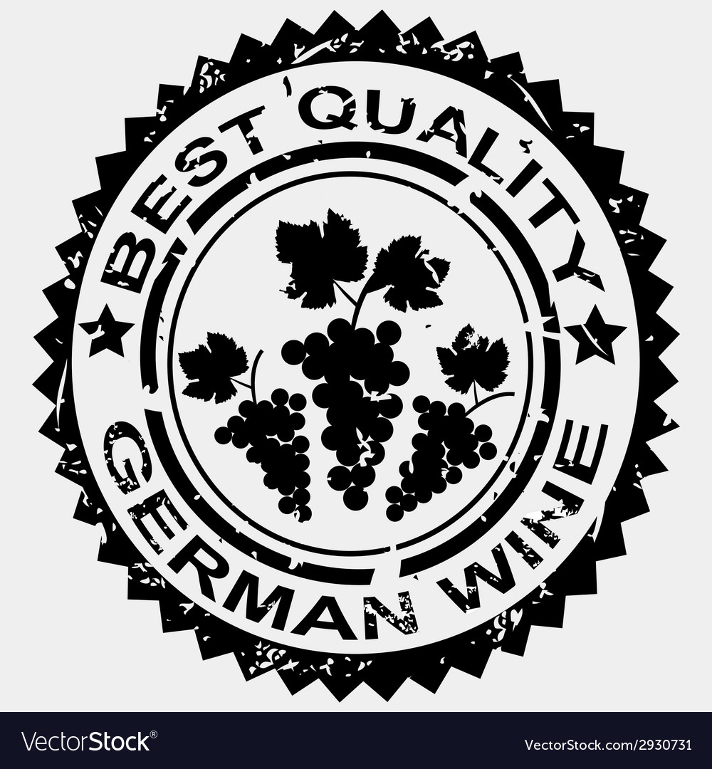 Stamp for german wine vector | Price: 1 Credit (USD $1)