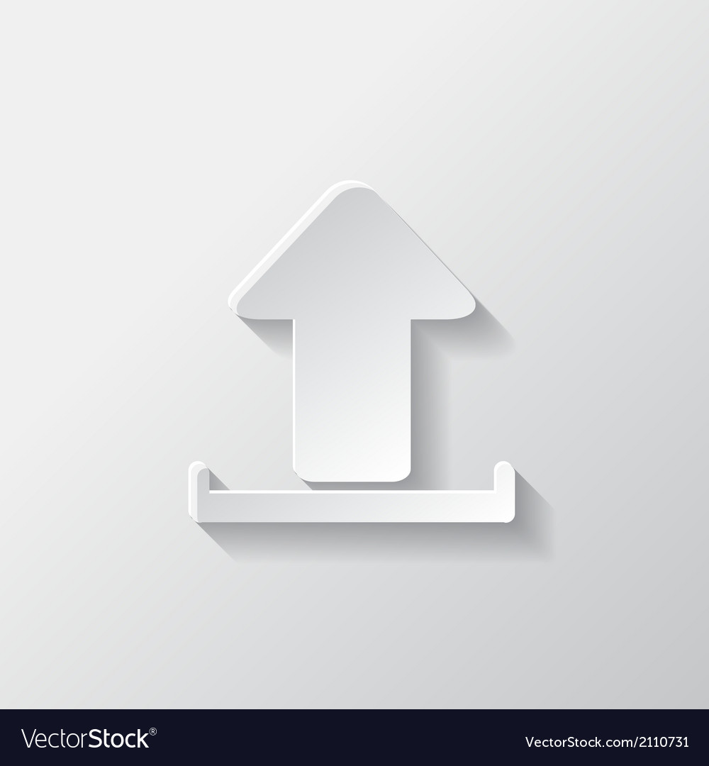 Upload icon send file vector | Price: 1 Credit (USD $1)
