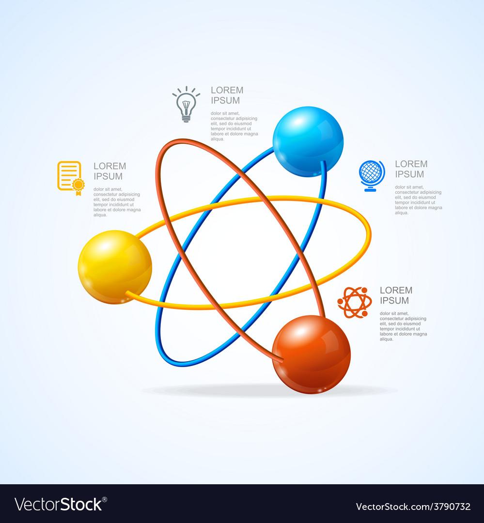Atom infografic vector | Price: 1 Credit (USD $1)