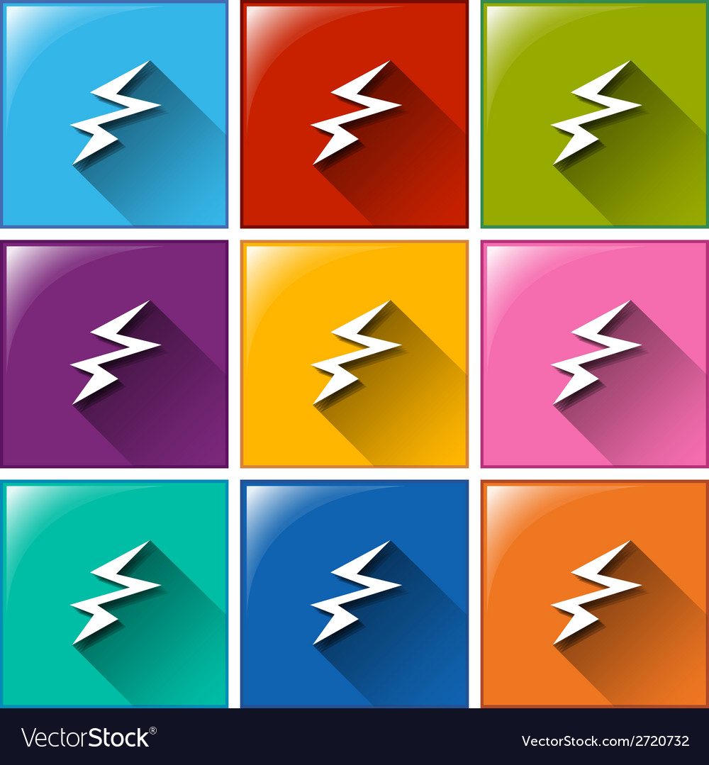 Battery charging icons vector | Price: 1 Credit (USD $1)