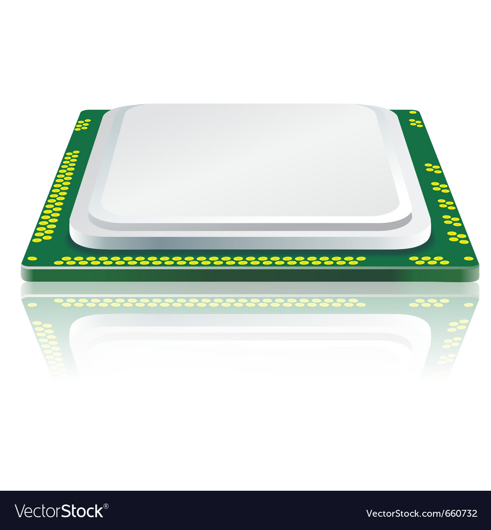 Computer processor vector | Price: 1 Credit (USD $1)