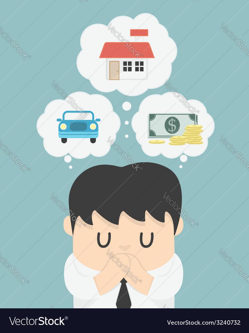 Dreams of a businessman vector   Price: 1 Credit (USD $1)