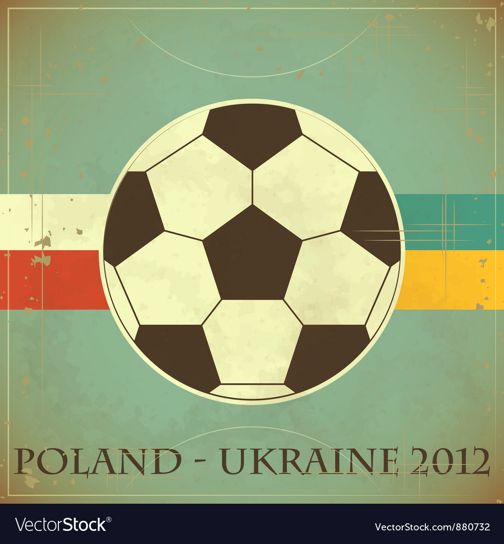Euro 2012 retro vector | Price: 1 Credit (USD $1)
