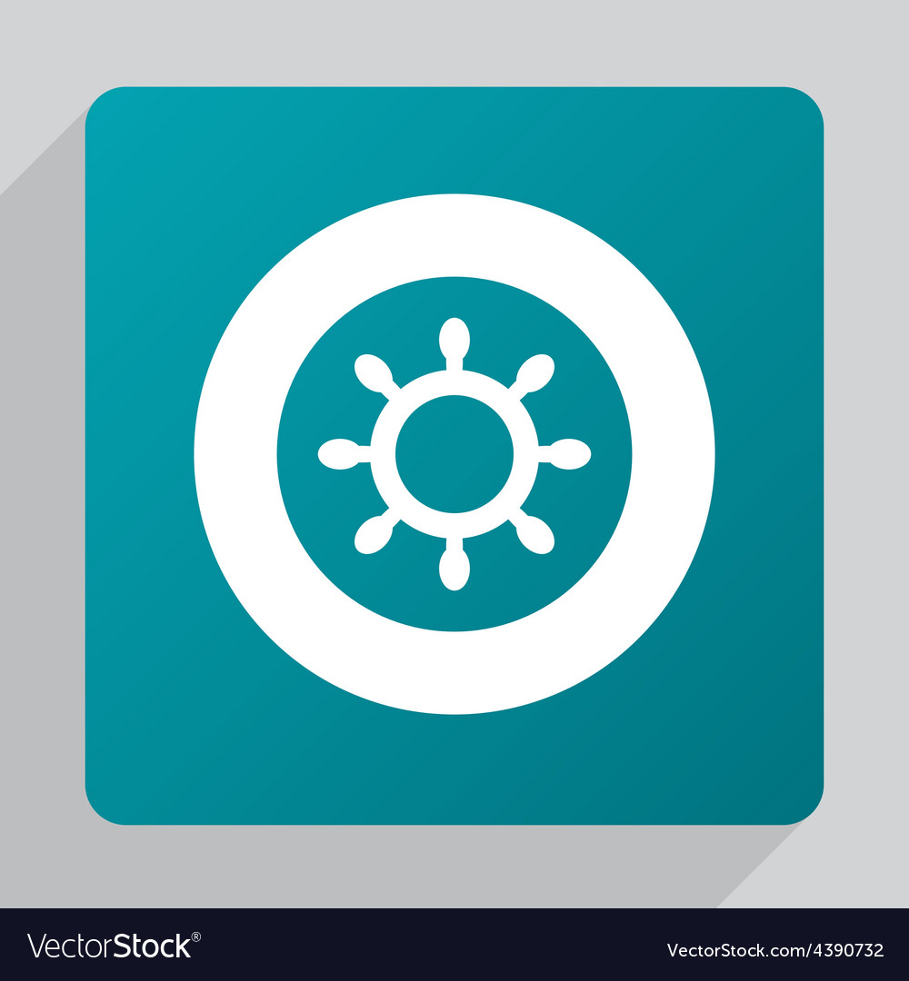 Flat ship wheel icon vector | Price: 1 Credit (USD $1)