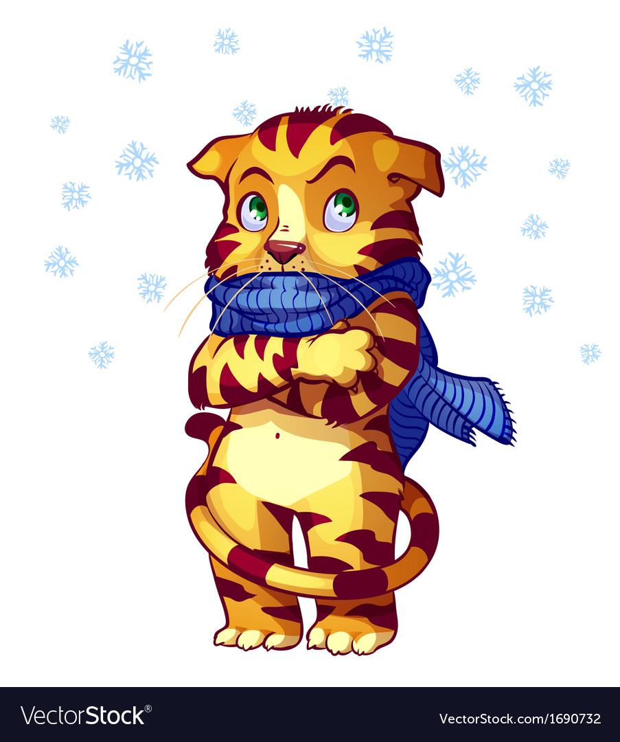 Frozen cat vector | Price: 1 Credit (USD $1)