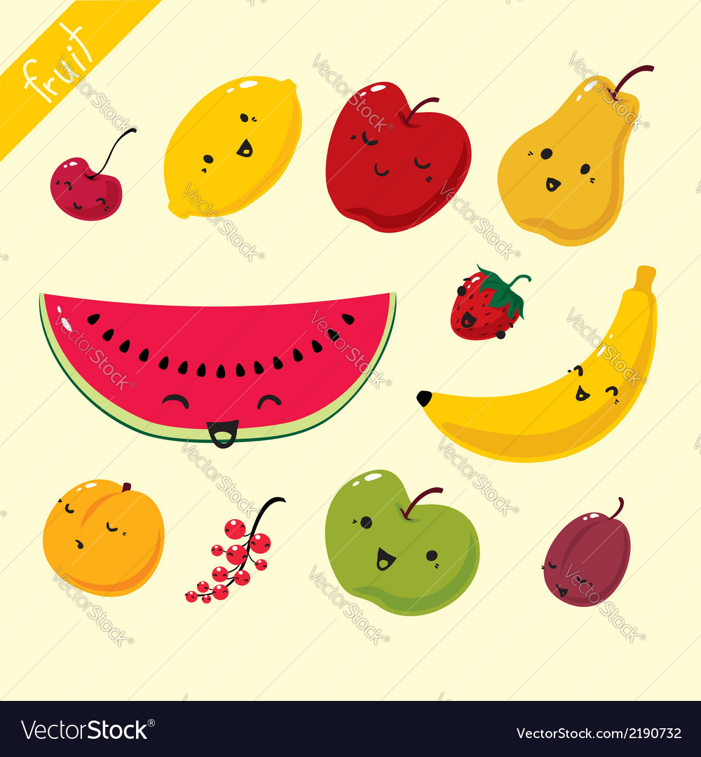 Fruits set of fruits vector | Price: 1 Credit (USD $1)