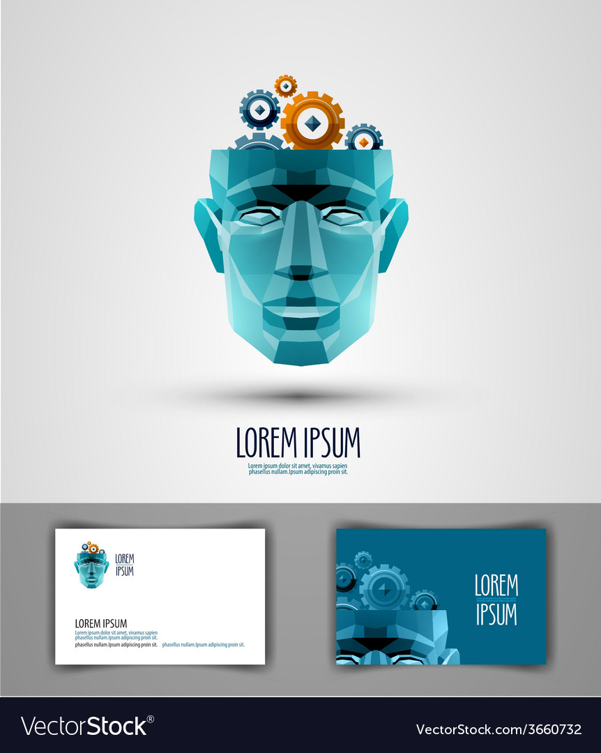Idea logo design template thought or intellect vector | Price: 1 Credit (USD $1)