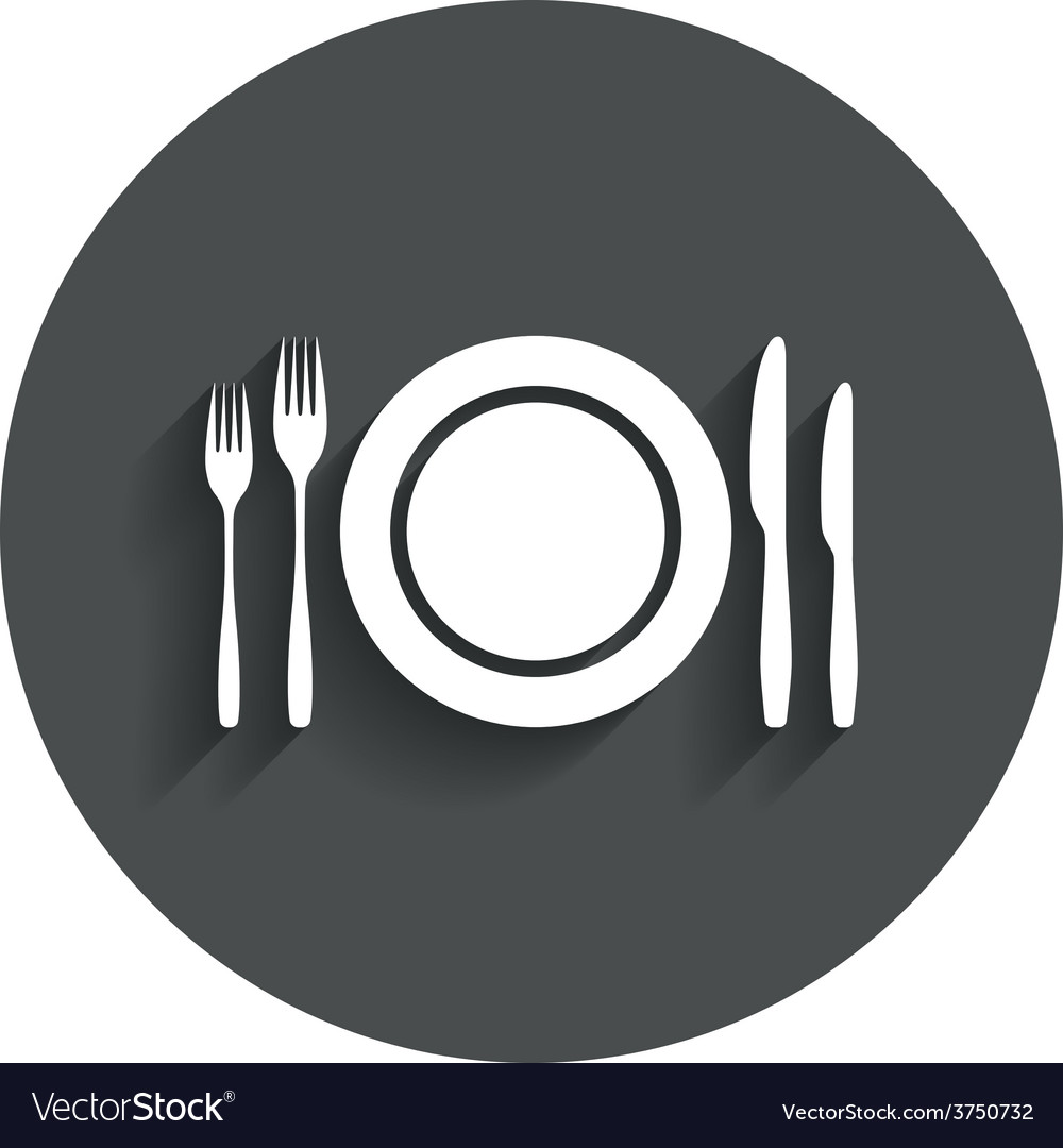 Plate dish with forks and knifes vector | Price: 1 Credit (USD $1)
