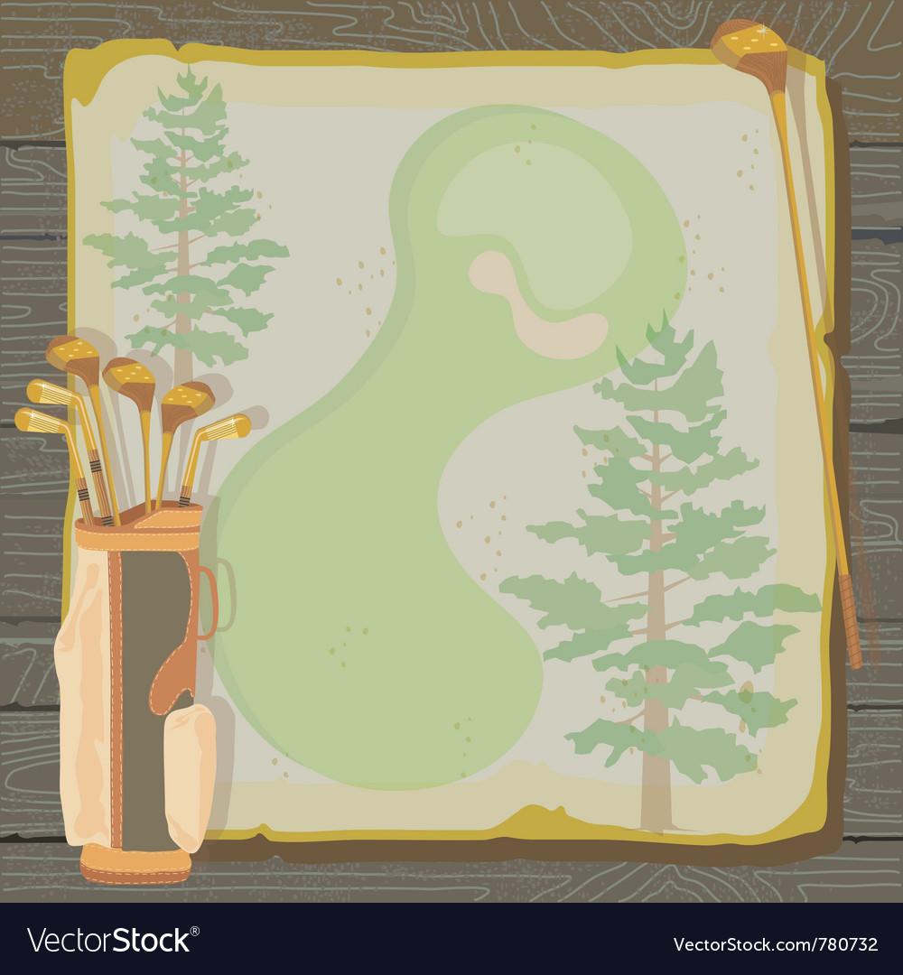 Rustic vintage golf party vector | Price: 3 Credit (USD $3)