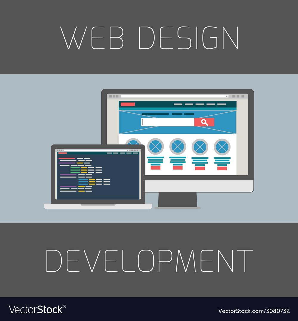Set of flat design concepts concept for web design vector | Price: 1 Credit (USD $1)