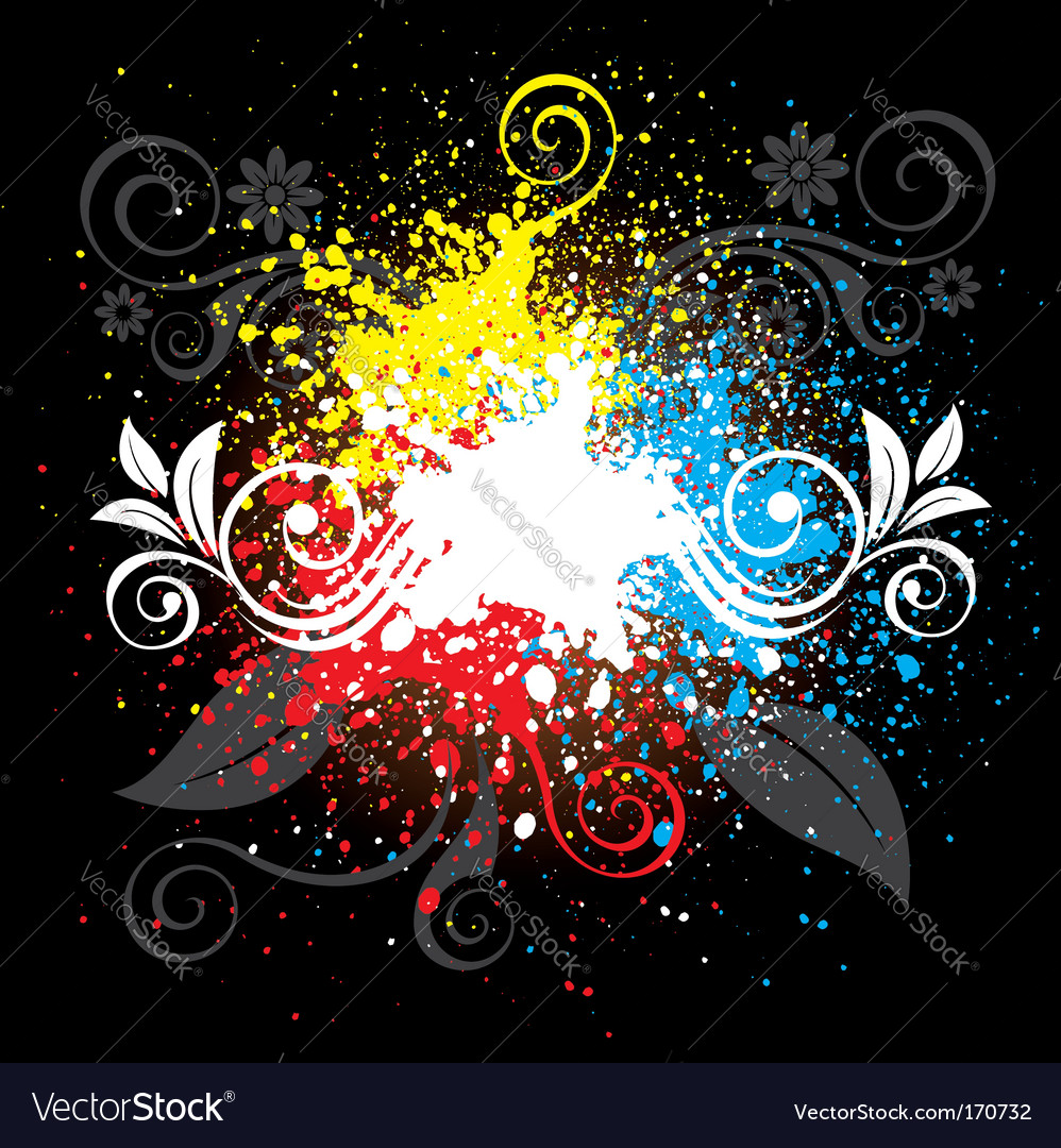 Splatter background vector | Price: 1 Credit (USD $1)