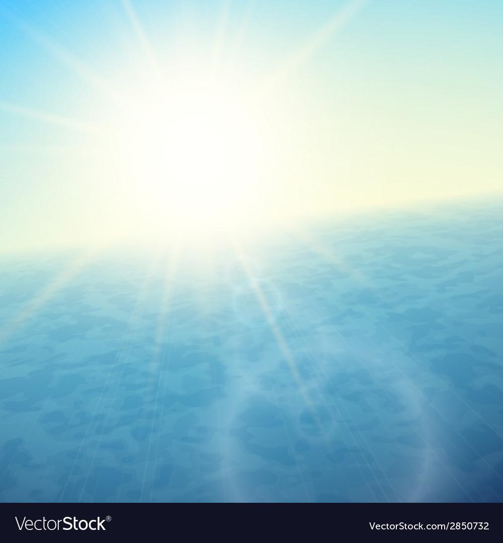 Sunset at sea horizon with summer sun vector   Price: 1 Credit (USD $1)