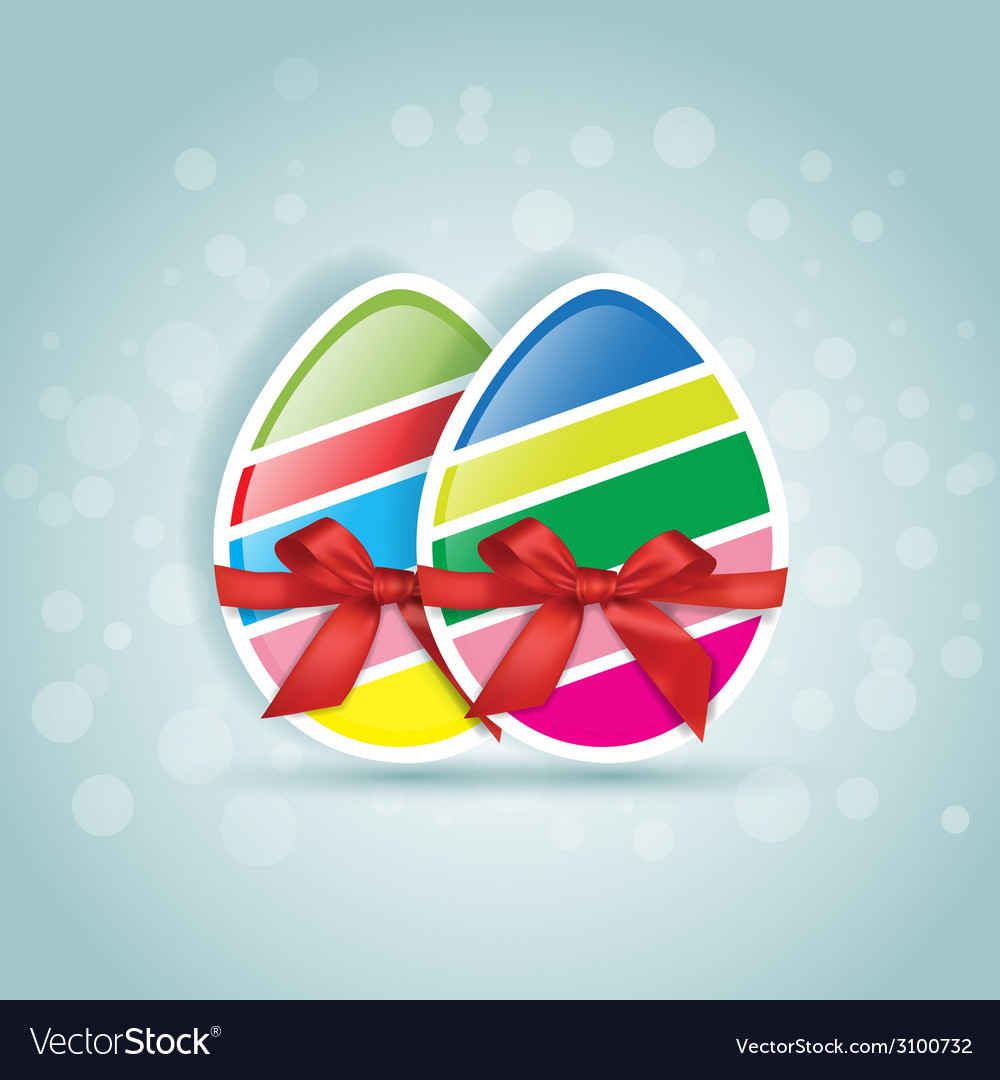 Sweet easter slices egg in different colors gift vector | Price: 1 Credit (USD $1)