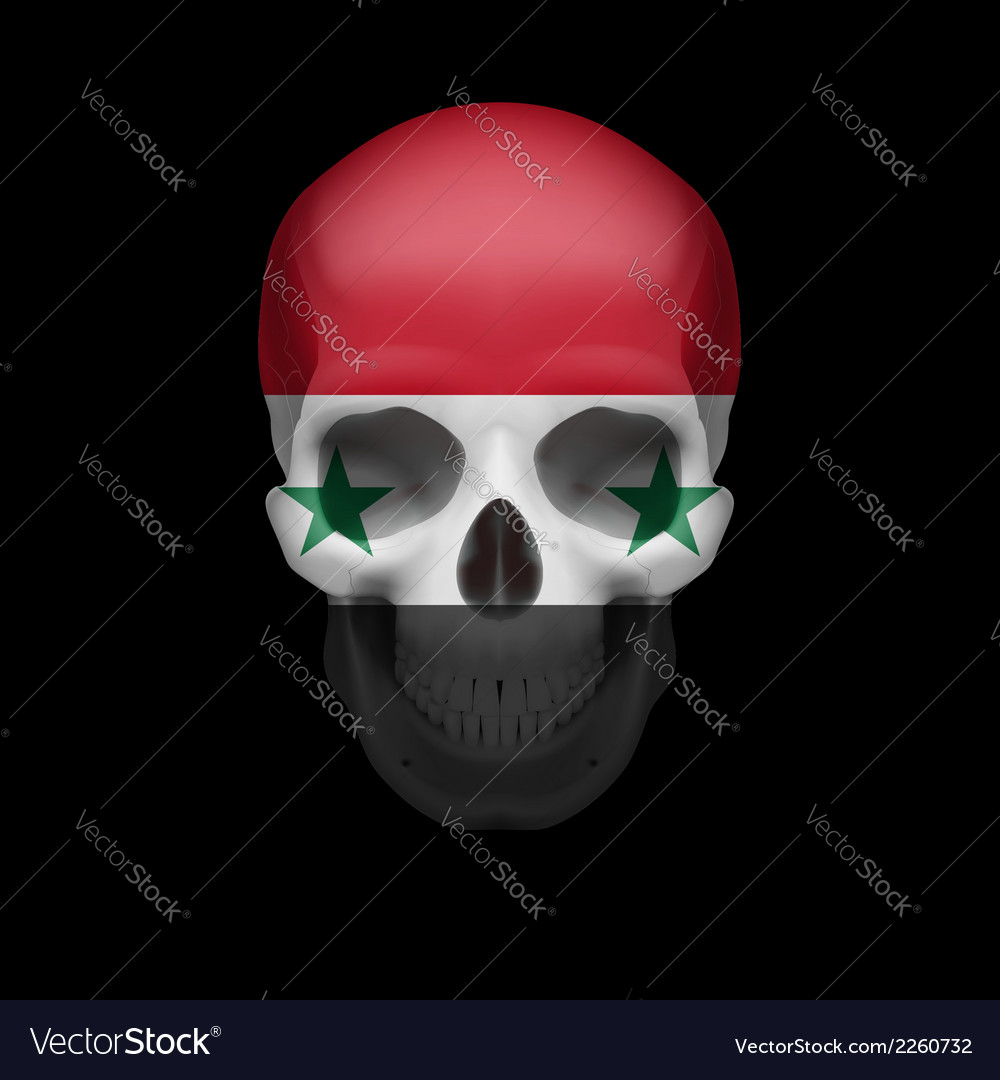 Syrian flag skull vector | Price: 1 Credit (USD $1)