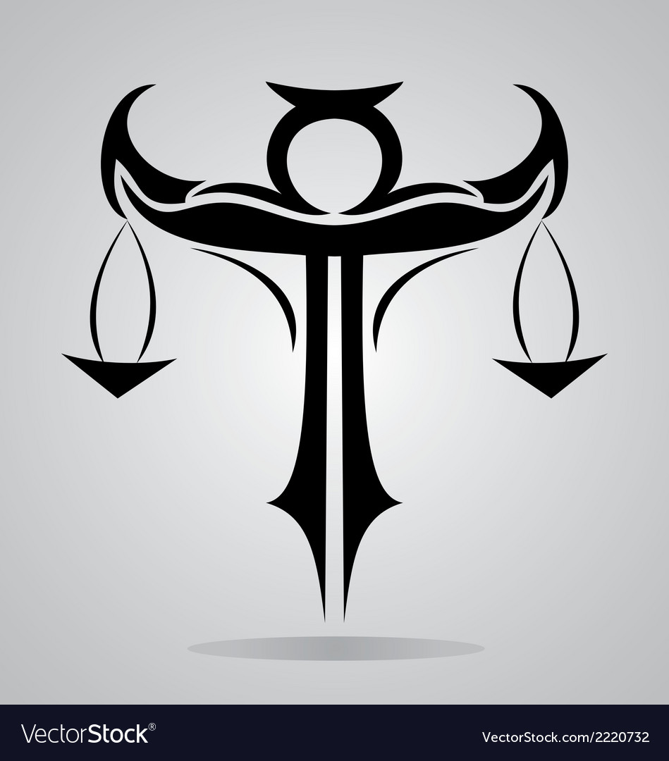 Tribal libra signs vector | Price: 1 Credit (USD $1)