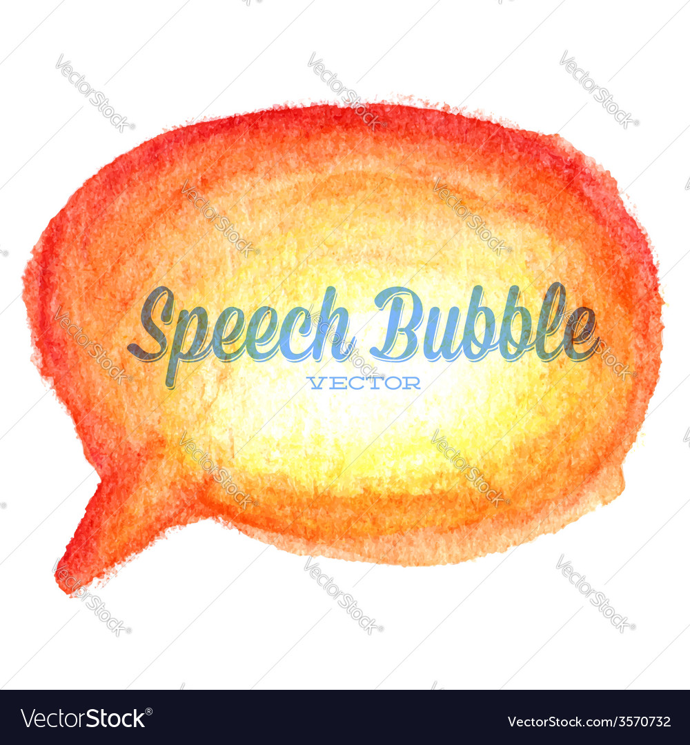 Watercolor drawn orange speech bubble vector | Price: 1 Credit (USD $1)