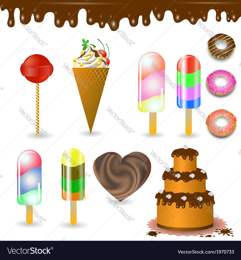 Collection of sweets vector | Price: 1 Credit (USD $1)