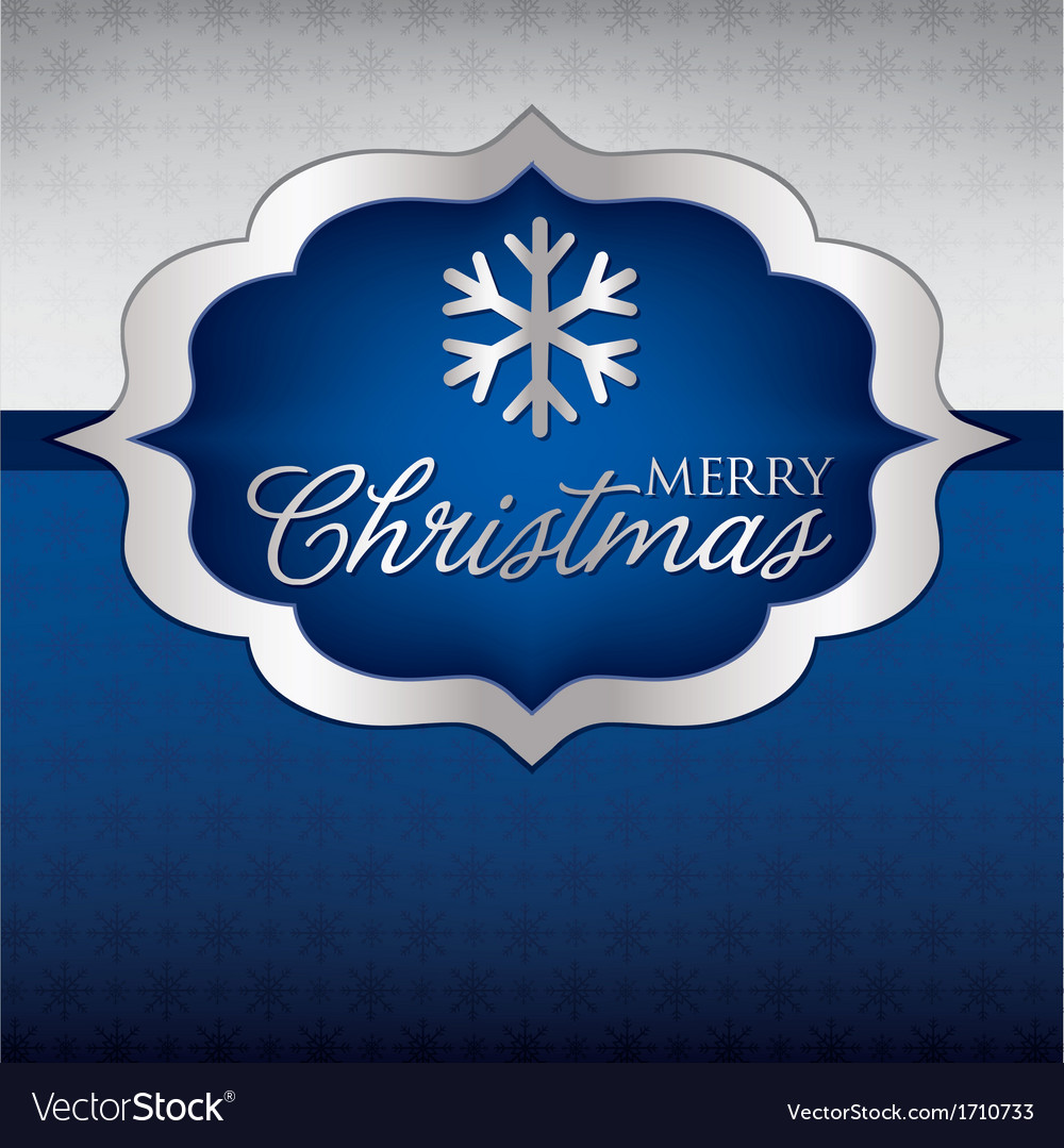 Elegant label christmas card in format vector | Price: 1 Credit (USD $1)